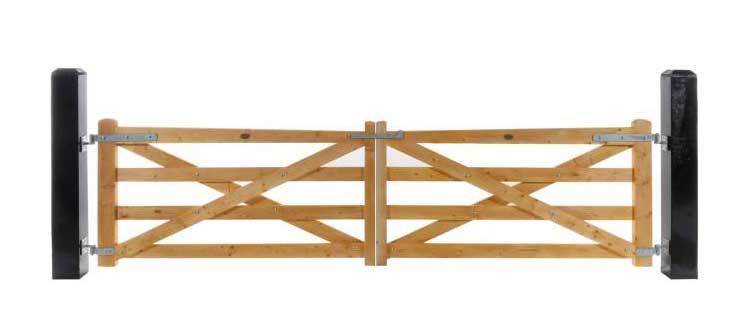 4 Rail Plain Gates